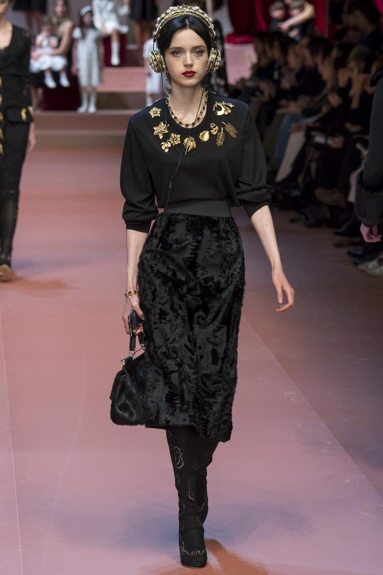 черная юбка из бархота