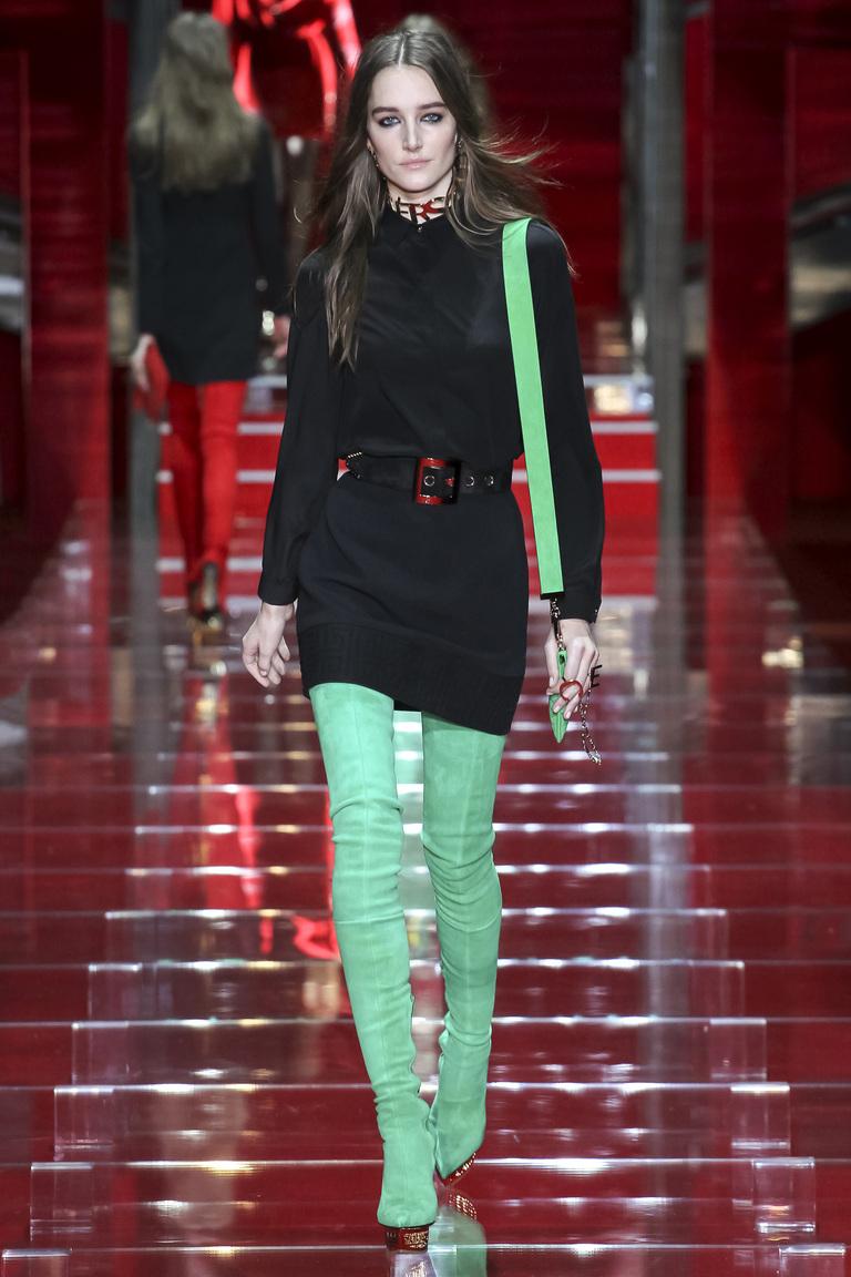 ярко зеленые ботфорты