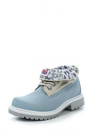 женские ботинки светло-синие