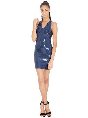 синее повседневное платье