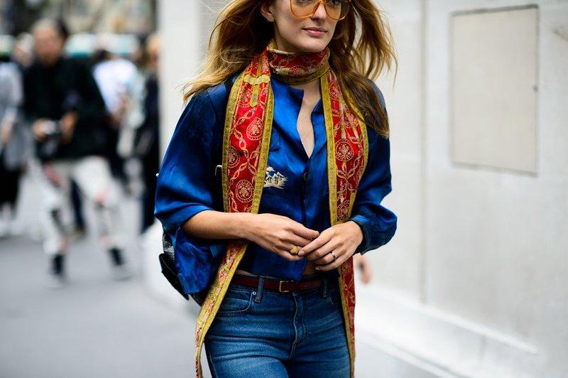 шелковый шарф с узором