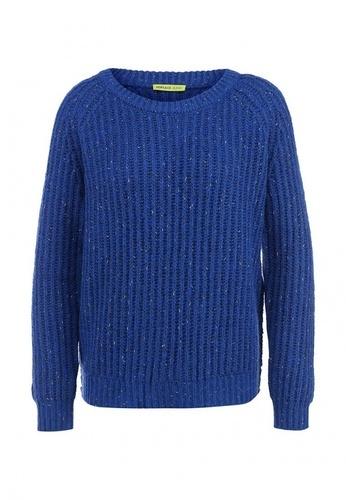 теплый синий свитер