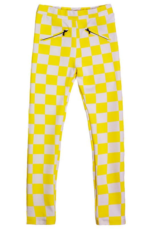желтые теплые брюки детские