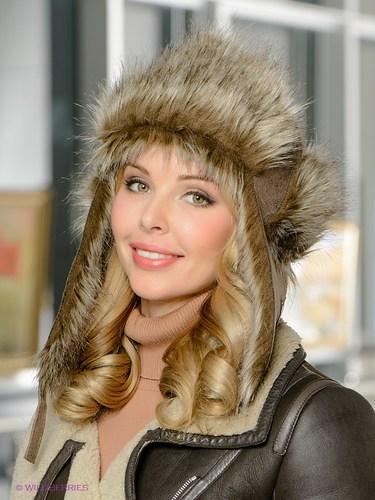 женская шапка из меха