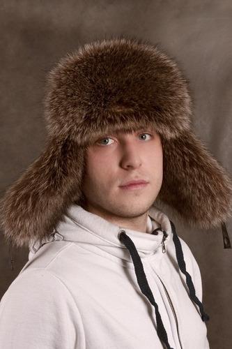 меховая мужская шапка ушанка