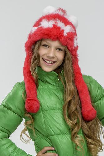 детская теплая шапка для девочек