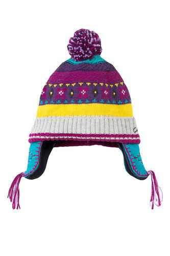 детская шапка цветная с вязками
