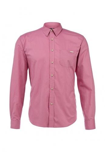 розовая мужская рубашка