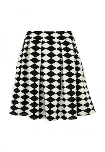 юбка миди черно-белая