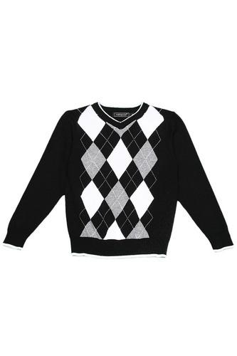свитер для мальчиков с ромбами