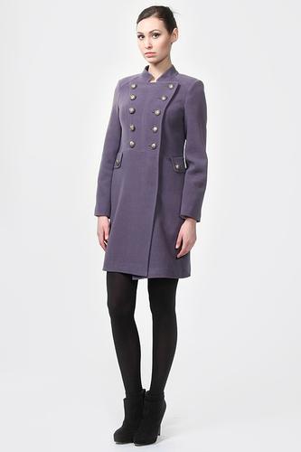 фиолетовое пальто женское