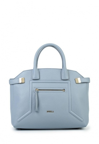 сумка голубая женская кожаная