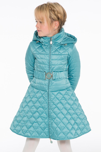 голубое пальто для девочки