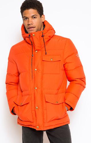 мужской оранжевый пуховик