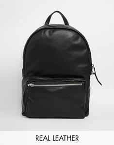 Черный кожаный рюкзак American Apparel