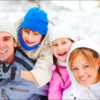 Стильная одежда для зимнего семейного отдыха