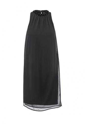 Вечернее шифоновое платье с расшитым воротом Vero Moda