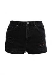 Шорты джинсовые (SHORTS) W черный Хлопок - 100% Topshop