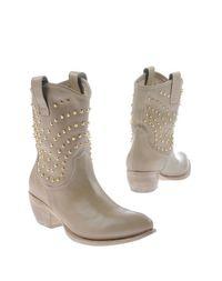 Бежевые Полусапоги и высокие ботинки Emanuela Passeri