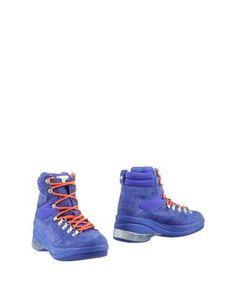 Синие Полусапоги и высокие ботинки Fornarina