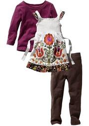 Комплект, 3 части: платье, кофточка и легинсы