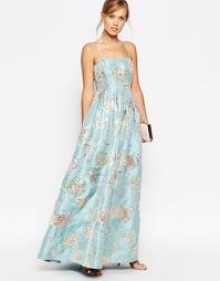 Платье с цветочной отделкой ASOS SALON - Мульти