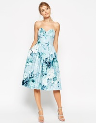 Платье миди для выпускного с цветочным принтом ASOS SALON - Принт
