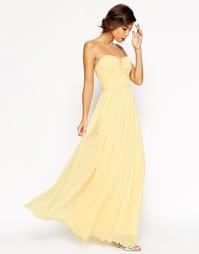Присборенное платье макси с лифом-бандо ASOS WEDDING - Мятный