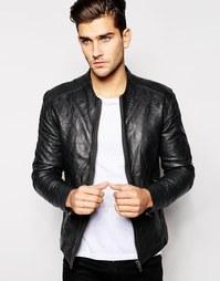 Кожаная куртка Barney's - Черный