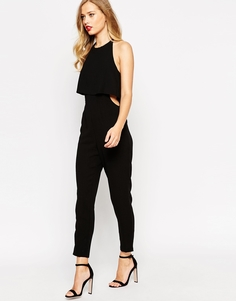 ASOS Jumpsuit With Double Layer Halter - Черный