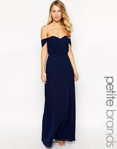 Платье макси с открытыми плечами Jarlo Petite Florence - Темно-синий