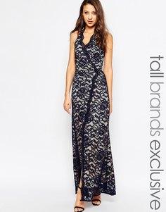 Кружевное платье макси для высоких с горловиной‑халтер Jarlo Tall