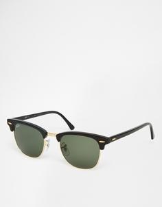 Солнцезащитные очки клабмастер Ray-Ban 0RB3016 W0365 49 - Черный