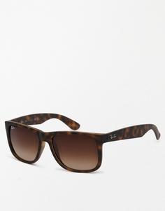 Солнцезащитные очки-вайфареры Ray-Ban 0RB4165 - Коричневый