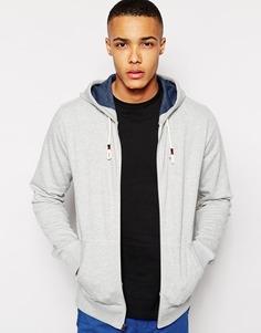 Худи с логотипом-флажком Hilfiger Denim - Светло-серый
