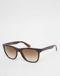 Солнцезащитные очки-вайфареры Ray-Ban 0RB4184 - Коричневый