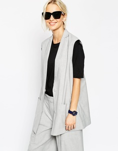 Пиджак без рукавов ASOS WHITE - Серый