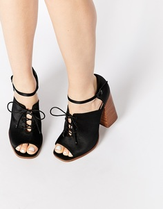 ASOS EDENVILLE Lace Up Shoe Boots - Черный