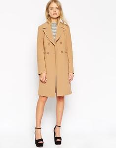 Пальто с контрастной cтрочкой ASOS - Рыжий