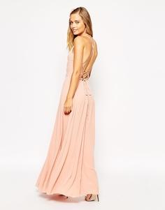 Платье макси с завязкой сзади ASOS - Черный