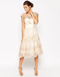 Платье миди для выпускного Chi Chi London Premium