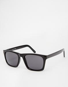 Солнцезащитные очки в квадратной черной оправе ASOS - Черный
