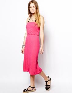 Розовое платье с 3 способами ношения Marie Meili Malibu - Ярко-розовый
