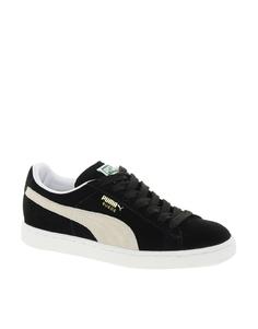 Черные классические кроссовки из замши Puma - Черный