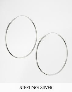 Серебряные серьги-кольца 60 мм ASOS - Серебряный