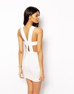 Платье 2 в 1 с ремешками на спине AQ AQ Chrissy - Кремовый