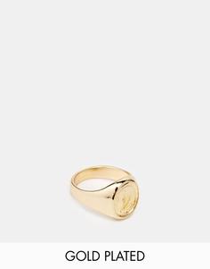 Позолоченное кольцо на мизинец ASOS - Золотой