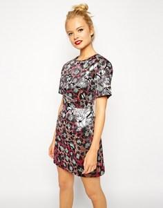 Цельнокройное платье с цветочным принтом ASOS - Принт