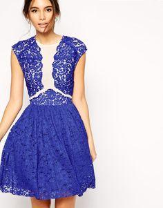 Платье для выпускного с кружевной аппликацией ASOS Premium