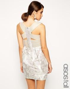 Черное жаккардовое платье-тюльпан ASOS TALL - Мульти
